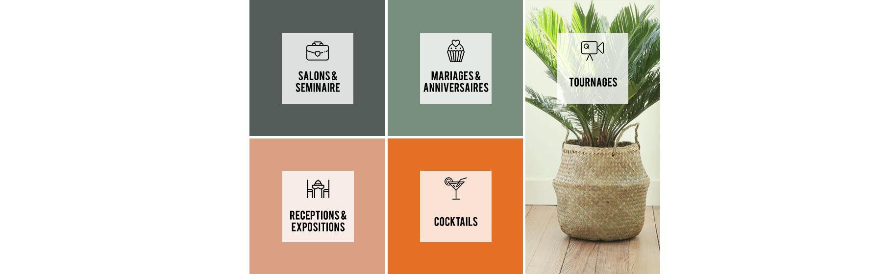 salons/saminaires/mariages/anniversaires/tournages/receptions/expostions/cocktails-location de végétaux-pepinieres-imbert